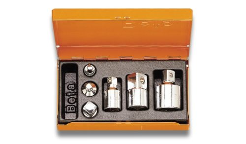 Metal case and 1/2 inches sockets assortments