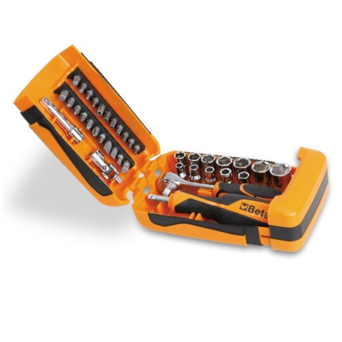 Metal case and 1/4 inches sockets assortments