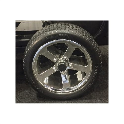 Solid Rubber Tires with Chrome Wheels Set of 4