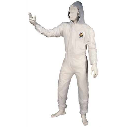 COVERALL REUSABLE LG W/VELCRO WR/ANKLES