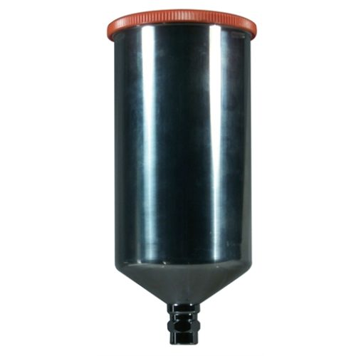 Aluminum Gravity Feed Cup w/ Screw On Lid