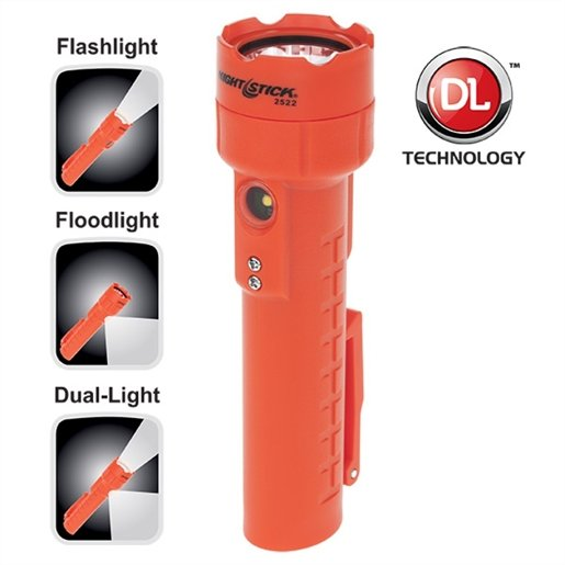 Recharge LED Flashlight Dual Magnets - Red