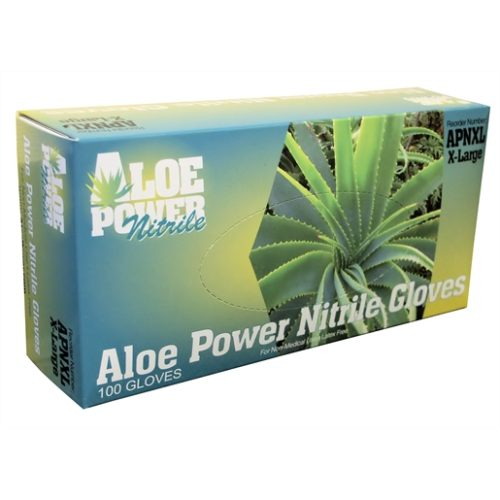 Aloe Power XXLarge Aloe Infused Nitrile Gloves