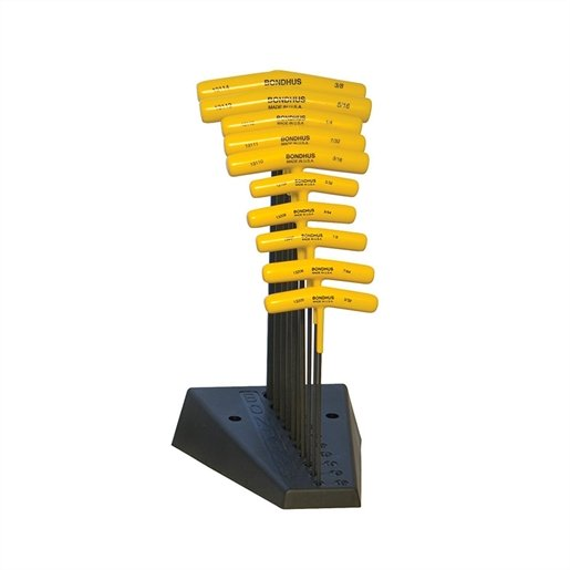 """BALLEND T-HANDLE SET W/STAND SIZES 3/32-3/8"""""""