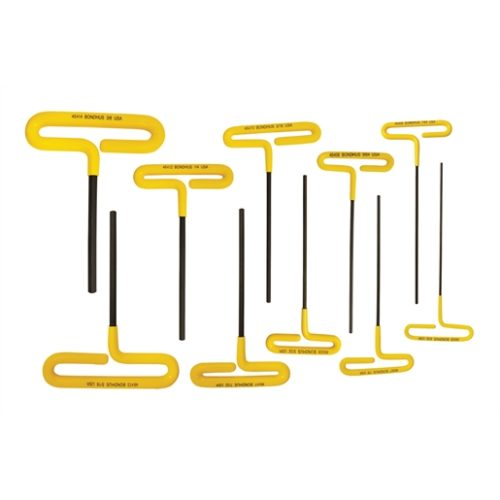 """6"""" Cushion Grip Loop T-Handle Hex Wrenches, 10 pie"""