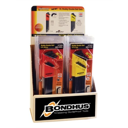 DISPLAY 10 DOUBLE BALL END STUBBY L-WRENCH