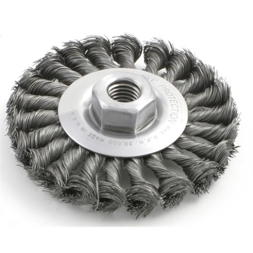 BRUSH WIRE WHEEL 8IN 3/4IN. 3/4IN.ARBOR .014WIRE