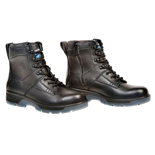 """Blk 6"""" Lace-up Side Zip Comp Toe Boot, 7.5"""