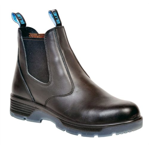 """Blk 6"""" Slip-On Comp Toe Safety Boot, 9"""