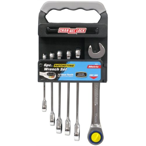 6-PC METRIC RATCHETING WRENCH SET