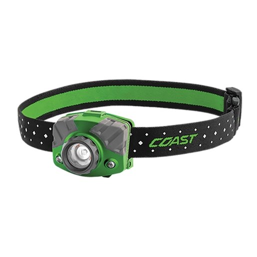 FL75R Rechargeable Headlamp green body in gift box