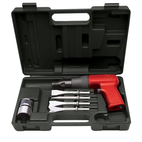 AIR HAMMER KIT, SHOCK REDUCED TOOL W/CHISELS & qc