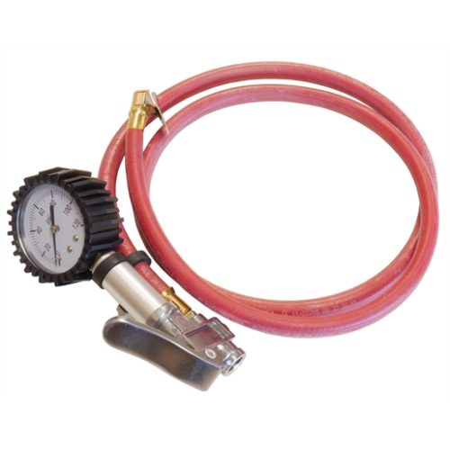 Master Air Gauge with 5 ft. Hose, 0-120 PSI