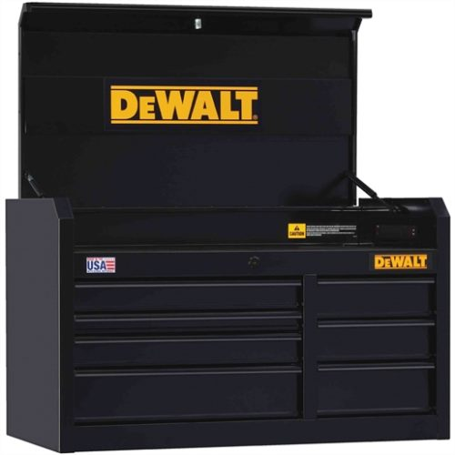 "7-Drawer Chest, 41"" x 21 in., Black"