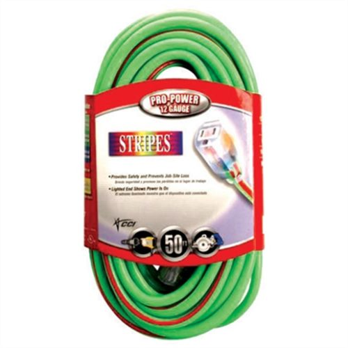 50 Ft Extension Cord Green/Red