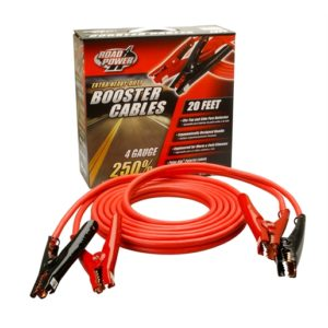 CABLE BOOSTER 20' 4GA TWIN RED