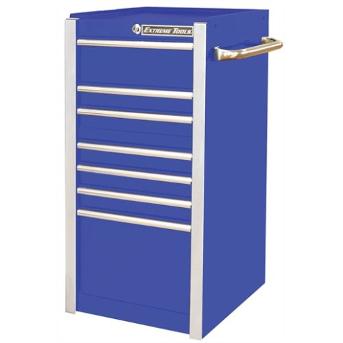 "Extreme Tools 19"" 7-Drawer Side Box, Blue"