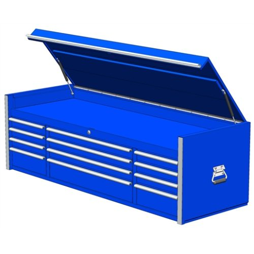 "Extreme Tools 72"" 12-Drawer Top Chest, Blue"