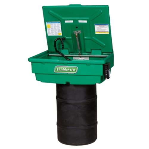 30 Gal Heated Drum Mounted Parts Washer with Drum
