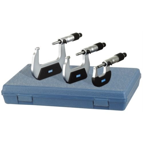 """0-3"""" MICROMETER SET, INSULATED FRAME"""