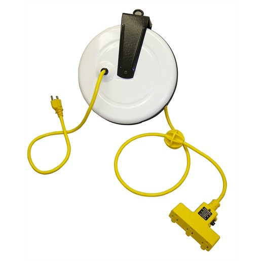 REEL EXTENSION CORD 30FT TRI-TAP