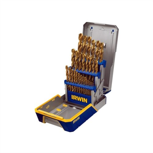 29PC DRILL BIT INDUSTRIAL SET CASE, TIN COATED