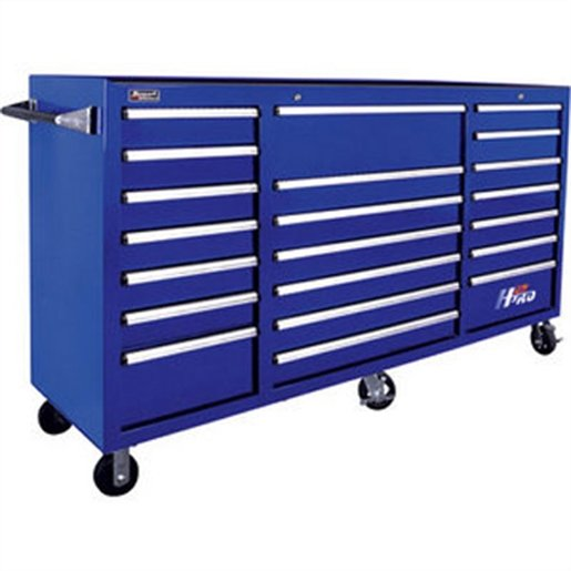 72in H2Pro Series 21 Drawer Rolling Cabinet - Blue