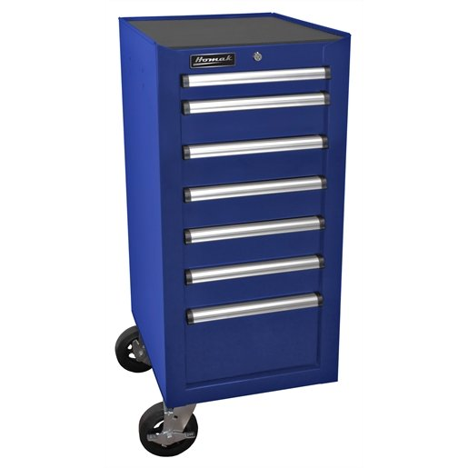 18 in. H2Pro Series 7-Drawer Side Cabinet, Blue