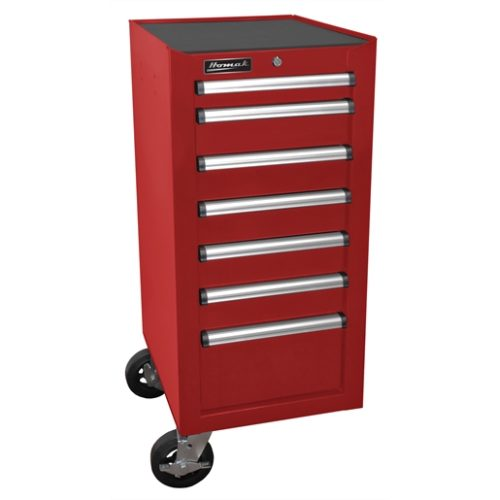 """18"""" H2Pro Series 7-Drawer Side Cabinet-Red"""