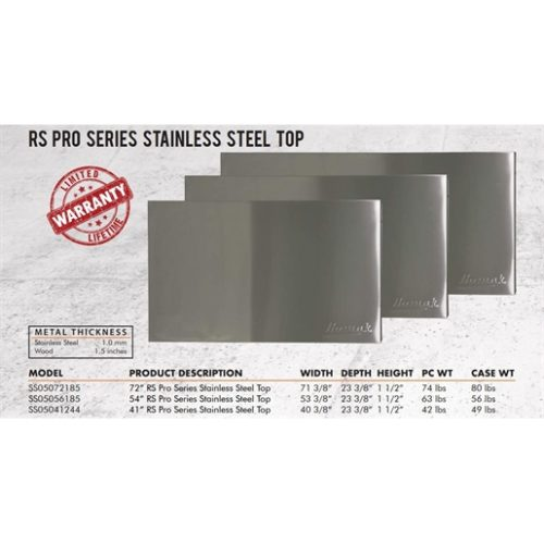 """72"""" RS Pro Stainless Steel Worksurface"""