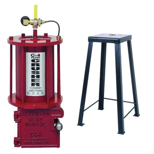 C4 OIL FILTER CRUSHER W/STAND