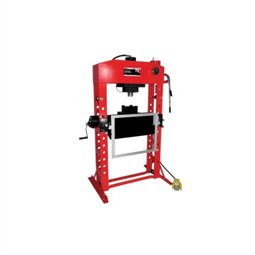 75 Ton Super Duty press with hydraulic table cart