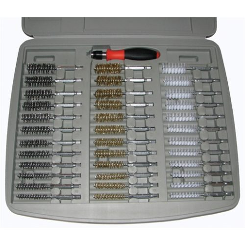36PC BORE BRUSH SET W/ 1/4 DRIVER HANDLE