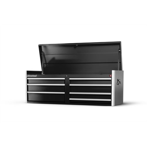 54 X 7 DRAWER TOP CHEST, BLACK