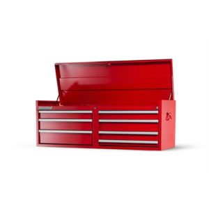 54 X 7 DRAWER TOP CHEST, RED