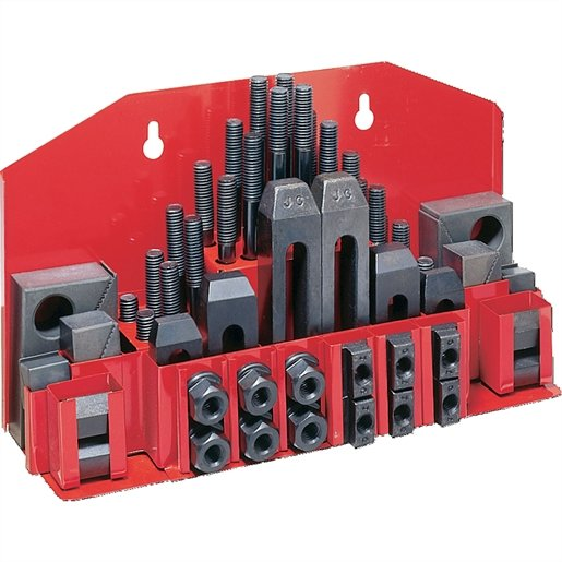 TOOLS CLAMPING KIT TRAY FOR T-SLOT 52-PC