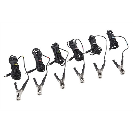 6-Pack of Leads w/ Clamps Set