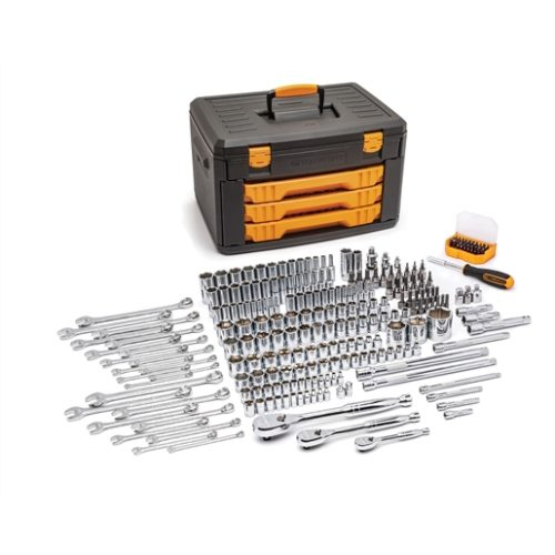 """243PC 6 POINT 1/4"""" 3/8"""" 1/2"""" DR TOOL SET"""