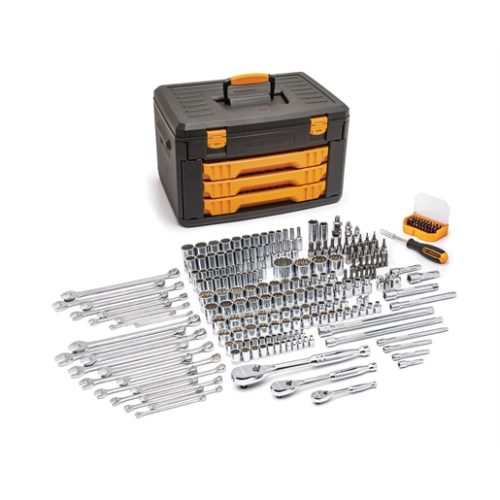 "243PC 12 POINT 1/4"" 3/8"" 1/2"" DR TOOL SET"