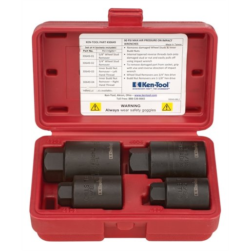 4-PC H.D. WHEEL STUD REMOVER SET