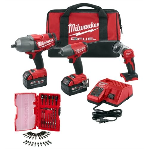 M18 FUEL 3 Tool Combo Kit w/ 35 PC Shockwave Set