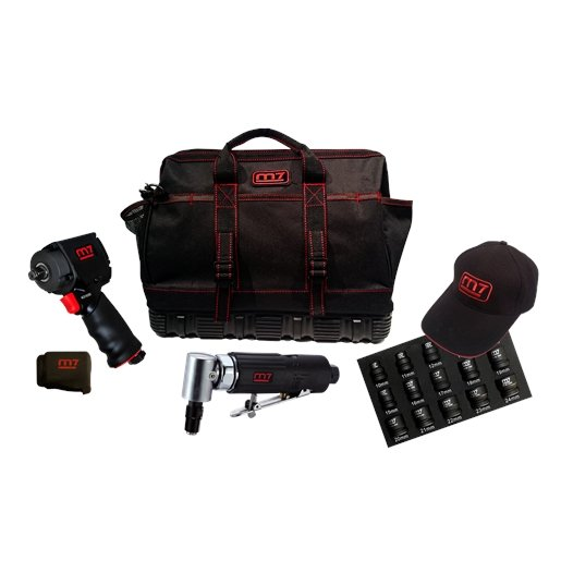 Mighty Seven Air Tool Kit with Free Tool Bag