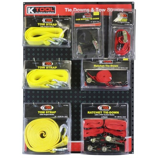 Tie Downs and Tow Straps Display Board by KTI