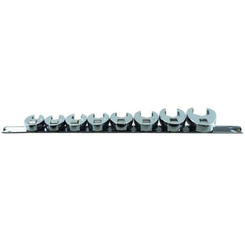 CROWFOOT FLARE NUT SET SAE 8 PC 3/8IN. DRIVE