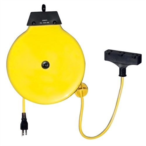 30 ft. Retractable Extension Cord Reel, 10 Amp