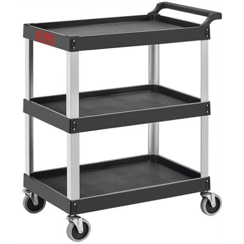 Professional Tool and Work Cart, 3-Shelf Aluminum