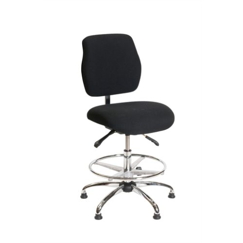 ESD Chair - Medium Height -   Deluxe Black