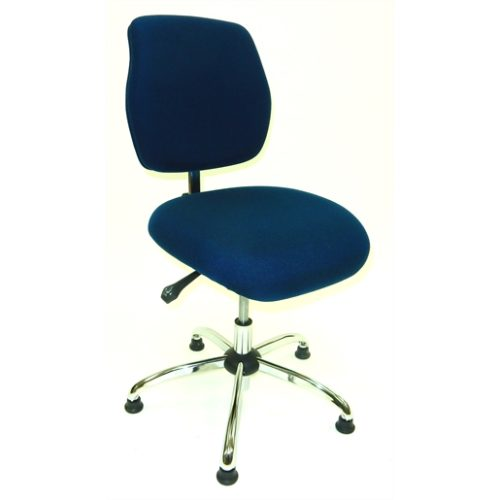 ESD Chair - Low Height - Deluxe Blue
