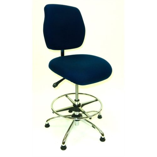 ESD Chair - Medium Height -  Deluxe Blue