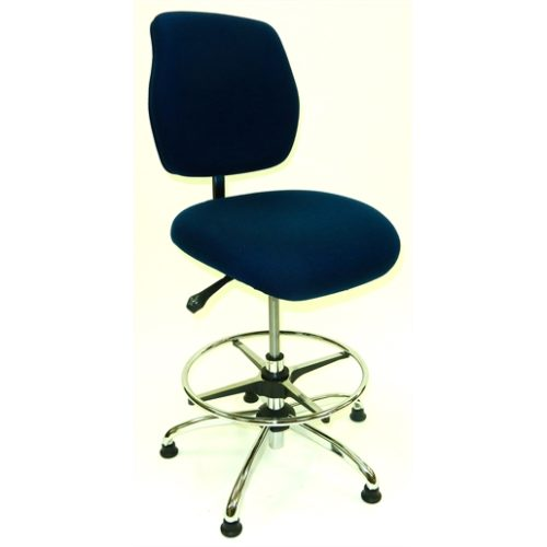 ESD Chair - High Height -Deluxe Blue